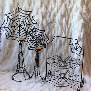 🆕Halloween Spider Cupcake Stand and VotiveHolders